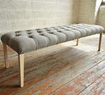 Panca da interno / in stile / in legno / in tessuto