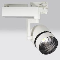 Faretti a binario LED / circolare / in alluminio / per museo