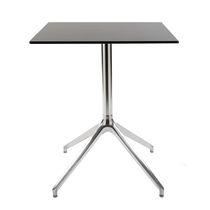 Tavolo da bistrot moderno / in alluminio / quadrato / da esterno