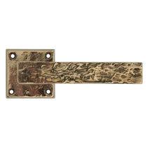 Maniglia per porta / in metallo / in stile rustico / incisa