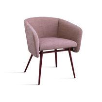 Sedia moderna / con braccioli / imbottita / in faggio
