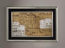 Pannello decorativo in vetro di Murano / da parete / 3D