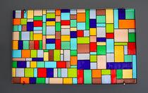 Pannello decorativo in vetro di Murano / da parete / retroilluminato