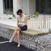 Panca per gabbione / pubblica / da giardino / moderna