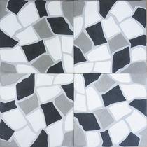 Piastrella in cemento encausto da interno / a pavimento / motivi geometrici