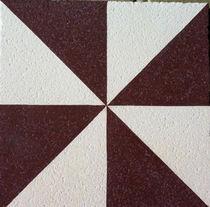 Piastrella in cemento encausto per uso esterno / da pavimento / motivi geometrici / fatta a mano