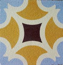 Piastrella in cemento encausto per uso esterno / da pavimento / geometrica / opaca