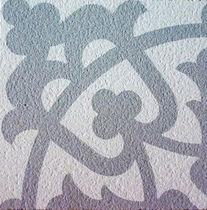 Piastrella in cemento encausto per uso esterno / da pavimento / motivi floreali / opaca