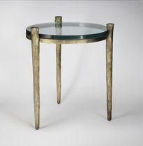 Tavolo d'appoggio / classico / in vetro / in ferro