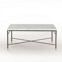 Tavolino basso classico / in vetro / in ottone / in ferro
