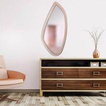 Specchio a muro / moderno / in pelle