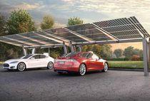 Tettoia per posto-auto in acciaio / professionale / con pannelli fotovoltaici integrati