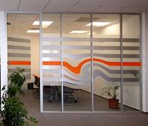 Parete amovibile / in alluminio / vetrata / a doppi vetri