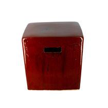 Sgabello moderno / in ceramica / bianco / rosso