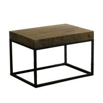 Tavolo d'appoggio moderno / in legno / in metallo / rettangolare