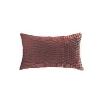 Cuscino rettangolare / a tinta unita / in lino / in seta