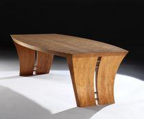 Tavolino basso moderno / in ciliegio / rettangolare / da interno