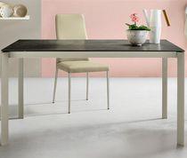Tavolo da pranzo moderno / in legno laccato / in cristallo / in alluminio