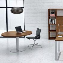 Tavolo da riunione moderno / in metallo / in melamminico / rotondo