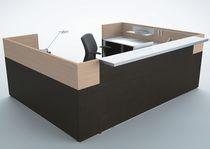 Banco reception d'angolo / in metallo / in melamminico