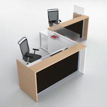 Banco reception d'angolo / in legno / in metallo / in melamminico