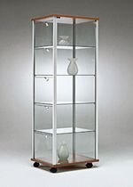 Vetrina moderna / da bancone / in vetro / in alluminio - C74 ...