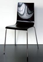 Sedia visitatore moderna / in acciaio / polimerica / con braccioli