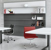 Scaffale a muro / moderno / in alluminio / in vetro
