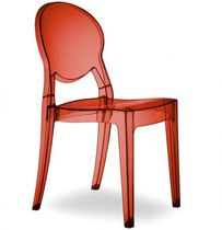 Sedia visitatore moderna / in policarbonato / impilabile / riciclabile