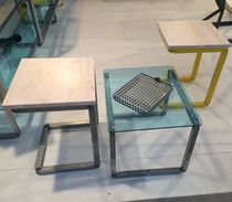 Set tavolo e sedia moderno / in legno / in metallo / in vetro