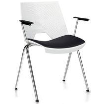 Sedia visitatore moderna / in acciaio / in polipropilene / con braccioli