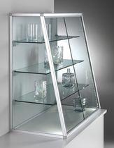 Vetrina moderna / da bancone / in vetro / in alluminio