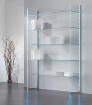 Espositore da parete / multiuso / per abbigliamento / in vetro