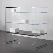 Espositore multiuso / per abbigliamento / in legno / in vetro