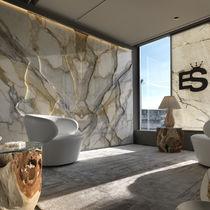 Pannello decorativo in marmo / da parete / retroilluminato / con motivo stampato