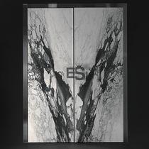 Porta d'ingresso / battente / in marmo / blindata