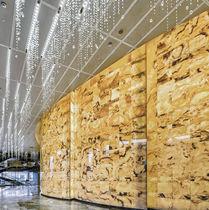 Pannello decorativo in marmo / da parete / retroilluminato / LED