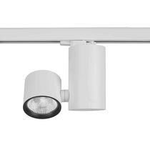 Faretti a binario LED / rotonda / in alluminio / in acciaio