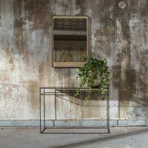Specchio a muro / moderno / rettangolare / in noce