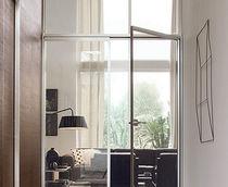 Porta interna / battente / in alluminio / vetrata