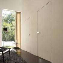 Porta da interni / battente / in legno / vetrata