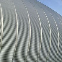 Lamiera ondulata / in acciaio / per rivestimento di facciata / per coperture