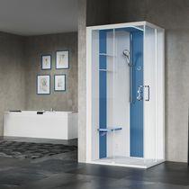 Box doccia multifunzione / a vapore / con idromassaggio / in vetro
