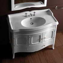 Mobile lavabo da appoggio / in noce / moderno / con cassetti