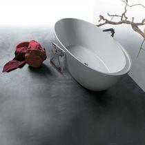 Vasca da bagno da appoggio / ovale / in porcellana