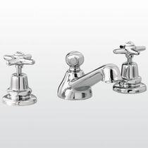 Miscelatore doppio comando per lavabo / da appoggio / in ottone / in nichel