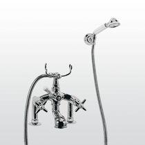 Miscelatore doppio comando per vasca / per doccia / da bancone / in metallo cromato