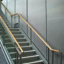 Rivestimento murale in metallo / per spazio pubblico / testurizzato / aspetto metallo