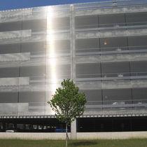 Rivestimento di facciata in acciaio inossidabile / in maglia di acciaio inossidabile / testurizzato / in griglia