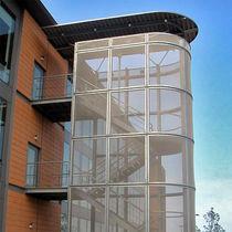 Rivestimento di facciata in maglia metallica / in maglia di acciaio inossidabile / testurizzato / in griglia